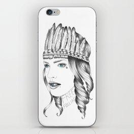 Free Fallin' iPhone Skin