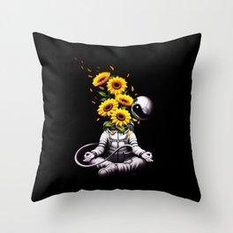 Meditation Astronaut Spring Throw Pillow
