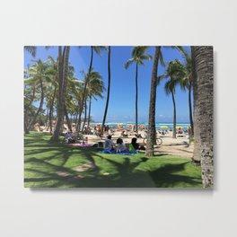 A Day at Waikiki Beach Metal Print