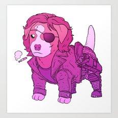 Kurt Russell Terrier - Snake Plissken Art Print