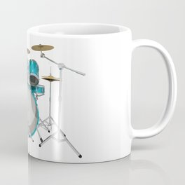 Green Drum Kit Coffee Mug