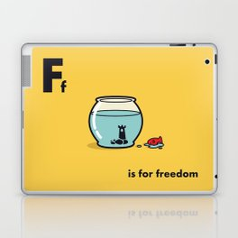 F is for freedom - the irony Laptop & iPad Skin
