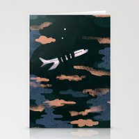 airplanes Stationery Cards featuring Airplane Angst by Victoria Borges