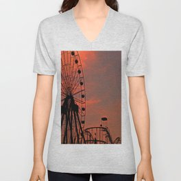 Sundown in Fun Town Unisex V-Neck