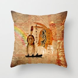 Native Indian Impressions Throw Pillow