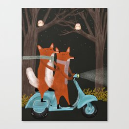 the fox mobile Canvas Print