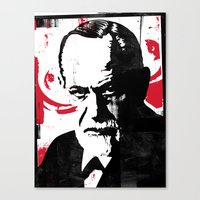 freud Canvas Prints featuring Freud by Taylor Callery Illustration