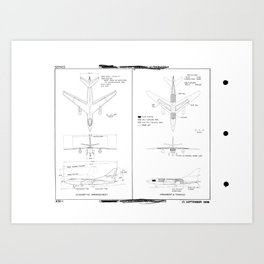 Douglas A-3D-1 Skywarrior Schematic Art Print