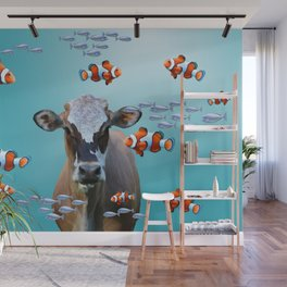 Costa Rica Cow - Clownfishes Collage underwater Wall Mural