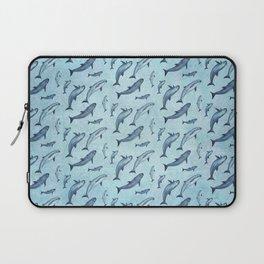 Pattern: Sea of Vaquita ~ (Watercolor Art, Copyright 2015) Laptop Sleeve