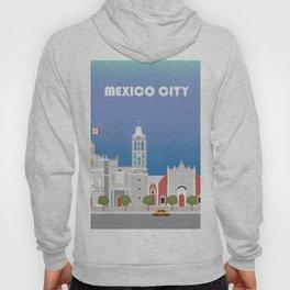 Mexico City, Mexico - Skyline Illustration by Loose Petals Hoody