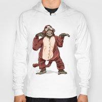 onesie Hoodies featuring Monkey Onesie by Alex Terry