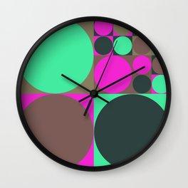Squared Circles Wall Clock