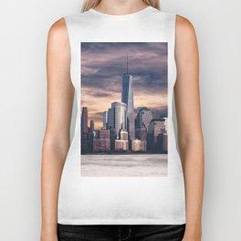 Dramatic City Skyline - NYC Biker Tank