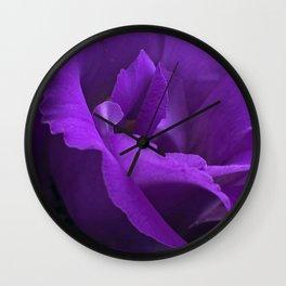 Blue Lisianthus Wall Clock