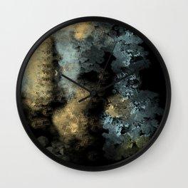 Textured Metal Wall Clock