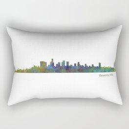 Beverly Hills City in LA City Skyline HQ v1 Rectangular Pillow