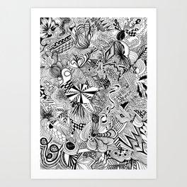 scribble me happy Art Print