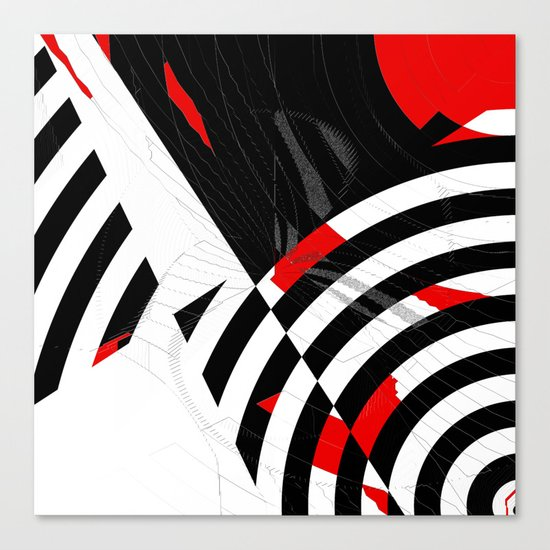 black and white meets red Version 8 Canvas Print