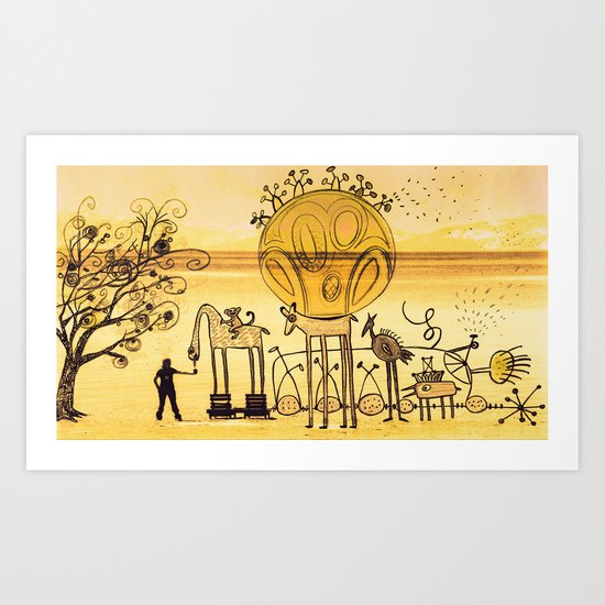 feeding imagination Art Print