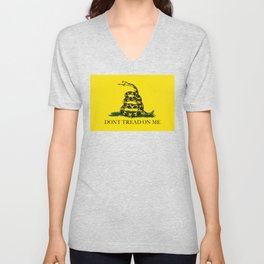 Gadsden Don't Tread On Me Flag - Authentic version Unisex V-Neck