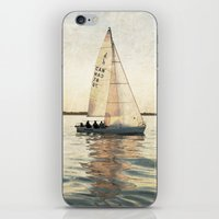 sailing iPhone & iPod Skins featuring Sailing by Mary Kilbreath