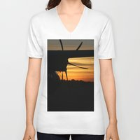 plane V-neck T-shirts featuring Plane by Eliel Freitas Jr