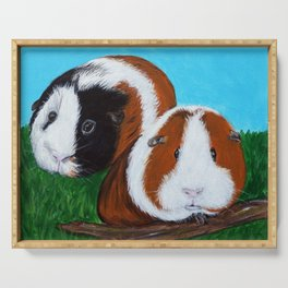 Guinea Pigs Painting Serving Tray