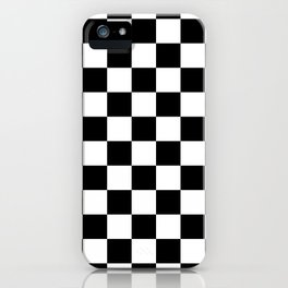 Checkered - White and Black iPhone Case