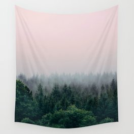 Forest in Pink Wall Tapestry