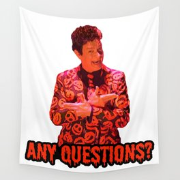 David S. Pumpkins - Any Questions? II Wall Tapestry