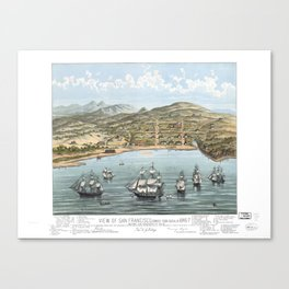 SAN FRANCISCO CALIFORNIA city old map Father Day art print poster Canvas Print