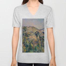 """Paul Cezanne """"View of the Domaine Saint-Joseph"""" Unisex V-Neck"""