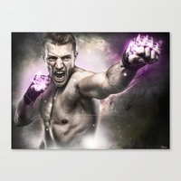 street fighter Canvas Prints featuring Street Fighter by Apothec