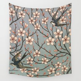 Almond Blossom and Swallow_Walter Crane  British artist (1845-1915) Wall Tapestry