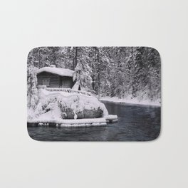 Winter In Lapland Finland Bath Mat