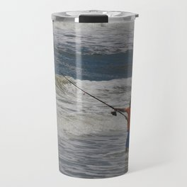 Fisherman and the Sea Travel Mug
