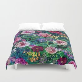 Botanical Flowers II Duvet Cover