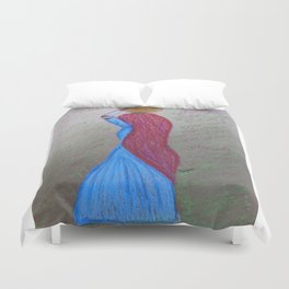 Lady with a Pot Duvet Cover