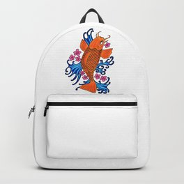 fish with water and flowers Backpack