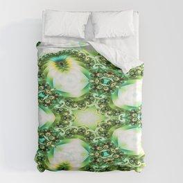 Green Jello Duvet Cover