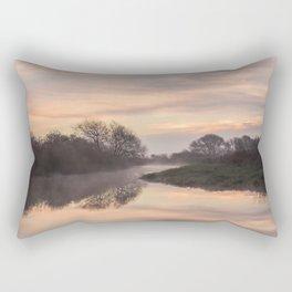 Misty Idle Sunrise Rectangular Pillow