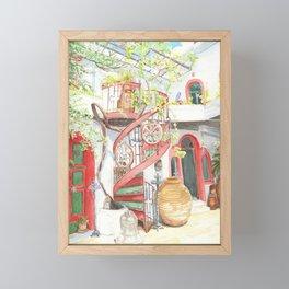 Tranquil Courtyard Framed Mini Art Print