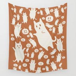 Hidden cat 43 Halloween party Wall Tapestry