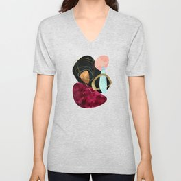 Abstract Pebbles II Unisex V-Neck