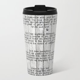 The Four Agreements 9 Travel Mug