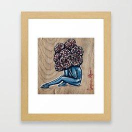 Flower for brains Framed Art Print