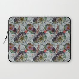 Koi Fish White Marble, Red Carps, Lotus Laptop Sleeve