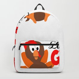 Kids Thanksgiving Little Miss Gobble Gobble Thanksgiving Turkey Backpack