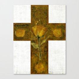 ROSE PETALS CROSS Canvas Print